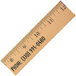 12 Inch Clear Lacquer Wood Rulers